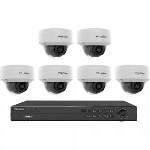 LaView 8-Channel Full HD IP Indoor/Outdoor Surveillance 2TB NVR System (6) Dome 1080P Cameras Remote View Motion Record