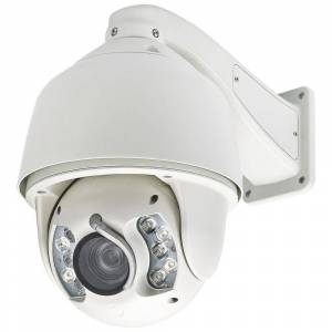 SPT Wired 1080TVL HD SDI IR PTZ Indoor/Outdoor CCD Dome Surveillance Camera with 20X Optical Zoom, White