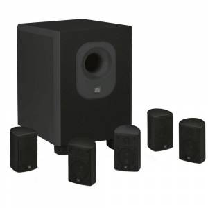 Leviton Architectural Edition Powered by JBL 5.1-Channel Home Theatre System in Black with Wall Brackets