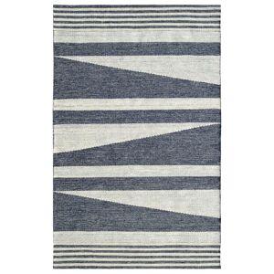 Dynamic Rugs Oak Ivory/Denim 8 ft. x 10 ft. Modern Cotton/Wool Area Rug