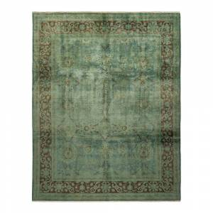 Solo Rugs Vibrance One-of-a-Kind Contemporary Green 8 ft. x 10 ft. 2 in. Oriental Area Rug