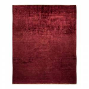 Solo Rugs One-of-a-Kind Vibrance Raspberry 8 ft. 2 ft. x 10 ft. 1 ft. Hand Knotted Area Rug