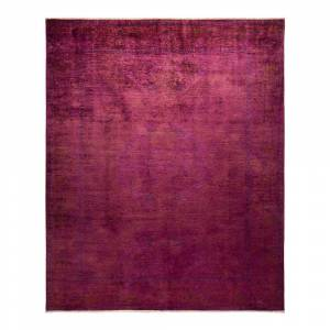 Solo Rugs One-of-a-Kind Vibrance Purple 8 ft. 2 ft. x 10 ft. Hand Knotted Area Rug