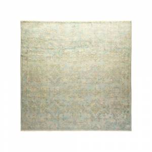 Solo Rugs One-of-a-Kind Vibrance Light Blue 9 ft. x 9 ft. 2 ft. Hand Knotted Area Rug