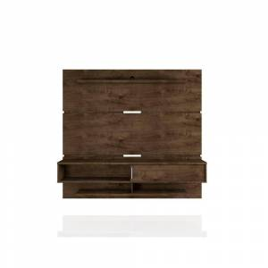 Luxor Rochester 71 in. Rustic Brown Floating Entertainment Center Fits TVs Up to 65 in. with Cable Management