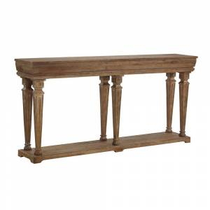 Powell Company Granger Distressed Pine Rustic Long Console