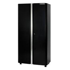 Husky 72 in. H x 36 in. W x 19 in. D Welded Steel Garage Floor Cabinet in Black