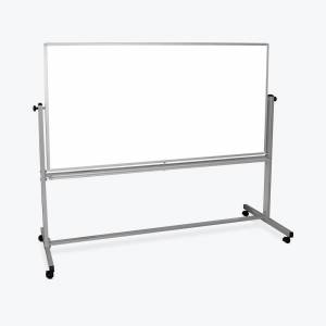Luxor 72 in. x 48 in. Mobile Double-Sided Magnetic Whiteboard, white/ silver