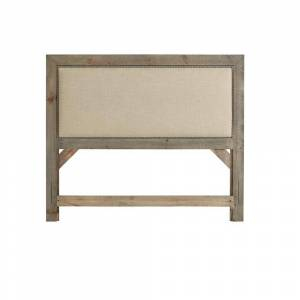 Progressive Furniture Willow Weathered Gray Full Size Upholstered Headboard, Weathered Gray and Linen