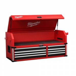 Milwaukee High Capacity 56 in. 8-Drawer Top Chest, Red / Black