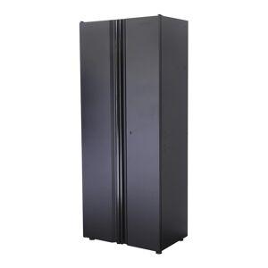Husky Welded 31 in. W x 75 in. H x 20 in. D 24-Gauge Free Standing Tall Steel Garage Cabinet in Black, Matte black powder coating