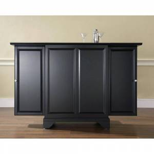 Crosley LaFayette Black Bar with Expandable Storage