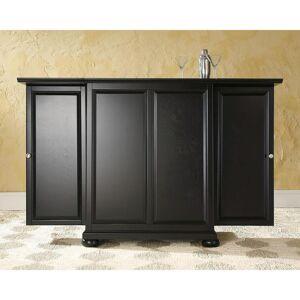 Crosley Alexandria Black Bar with Expandable Storage