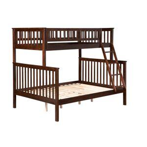 Atlantic Furniture Woodland Walnut Twin Over Full Bunk Bed, Brown