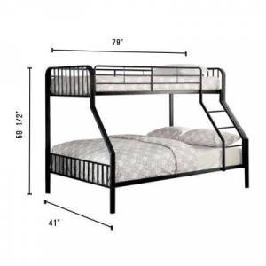 William's Home Furnishing Clement Black Twin/Full Size Bunk Bed