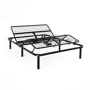 Lucid Comfort Collection Standard Adjustable Bed Base - Twin XL, Black