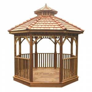 Outdoor Living Today 12 ft. Octagon Bayside Panelized Gazebo, Browns / Tans
