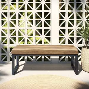 OVE Decors 48 in. Clay Artificial Stone Outdoor Bench