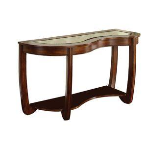 Benjara Crystal Falls Dark Cherry Transitional Style Sofa Table, Dark Cherry Brown