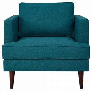 Modway Agile Upholstered Fabric Armchair in Teal, Blue
