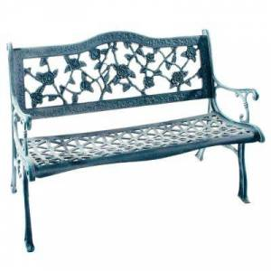 Oakland Living English Rose Cast Aluminum Outdoor Bench