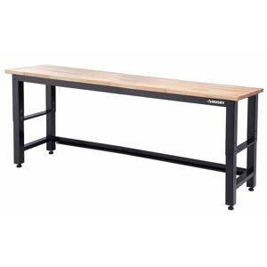 Husky 8 ft. Adjustable Height Solid Wood Top Workbench