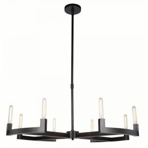ELEGANT FURNITURE & LIGH Timeless Home 48 in. L x 48 in. W x 11 in. H 8-Light Bronze Contemporary Chandelier