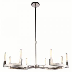 ELEGANT FURNITURE & LIGH Timeless Home 48 in. L x 48 in. W x 11 in. H 8-Light Polished Nickel Contemporary Chandelier