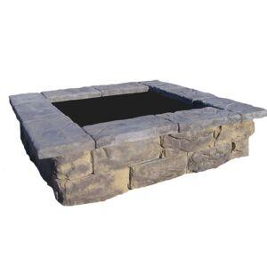 Natural Concrete Products Co 60 in. Fossill Limestone Square Concrete Planter, Gray