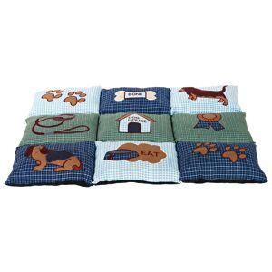 TRIXIE Medium Blue Patchwork Quilted Blanket