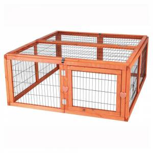 TRIXIE 3.8 ft. x 3.6 ft. x 1.6 ft. Medium Outdoor Enclosure with Mesh Cover Run