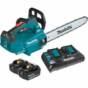 Makita 16 in. 18-Volt X2 (36-Volt) LXT Lithium-Ion Brushless Cordless Top Handle Chain Saw Kit (5.0Ah)
