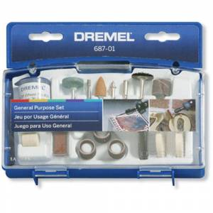 Dremel General and Multi-Purpose Rotary Tool Accessory Kit for Hard Wood, Metal and Plastic (52-Piece)