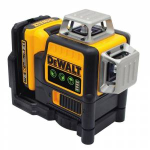 DEWALT 12-Volt MAX Lithium-Ion 100 ft. Green Self-Leveling 3-Beam 360 Degree Laser Level with 2.0Ah Battery, Charger & Case