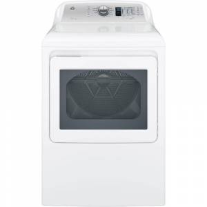 GE 7.4 cu. ft. 120-Volt White Gas Vented Dryer, ENERGY STAR