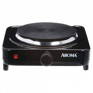 AROMA Single Burner 5.8 in. Black Diecast Hot Plate with Temperature Control