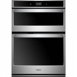 Whirlpool 30 in. Smart Combination Wall Oven with Touchscreen in Black on Stainless Steel