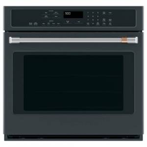 Cafe 30 in. Smart Single Electric Wall Oven with Convection Steam-Cleaning in Matte Black, Fingerprint Resistant, Fingerprint Resistant Matte Black