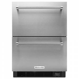 KitchenAid 4.7 cu. ft. Double Drawer Refrigerator Freezer in Stainless Steel, Counter Depth, Silver