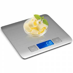 Ozeri Zenith Digital Kitchen Scale in Refined Stainless Steel with Fingerprint Resistant Coating