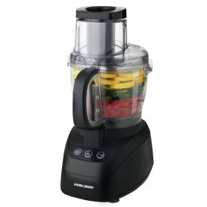 Black & Decker Wide Mouth 10-Cup 2-Speed Black Food Processor