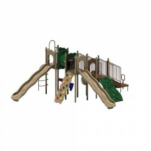 Ultra Play UPlay Today Boulder Point (Natural) Commercial Playset with Ground Spike