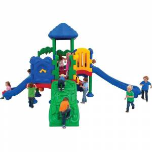 Ultra Play Discovery Center Commercial Playground 5 Deck with Roof Ground Spike Mounting