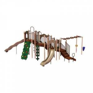 Ultra Play UPlay Today Slide Mountain (Natural) Commercial Playset with Ground Spike