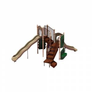 Ultra Play UPlay Today Timber Glen (Natural) Commercial Playset with Ground Spike