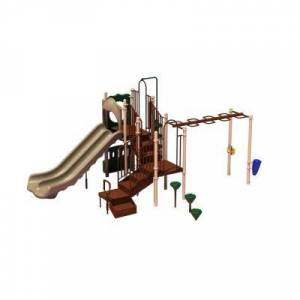 Ultra Play UPlay Today Maddie's Chase (Natural) Commercial Playset with Ground Spike