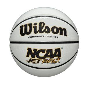 "Wilson NCAA Jet Pro Basketball in White - Size: Official - 29.5""  - Unisex - White - Size: Official - 29.5"""