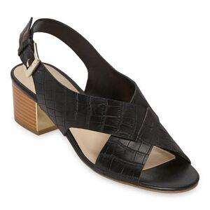 Liz Claiborne Womens Calista Heeled Sandals, 9 Wide, Black Black