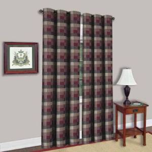 """SWEET HOME COLLECTION Single Window Panel Classic Harvard Decorative Checkered 42"""" x  84"""""""