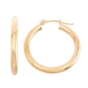 FINE JEWELRY 14K Gold 25mm Hoop Earrings